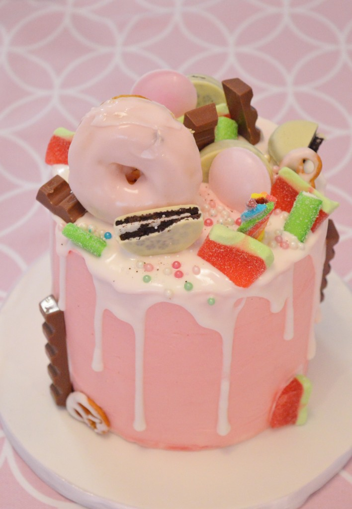 Oreo meloen drip cake, sweet16 taarten bestellen den haag