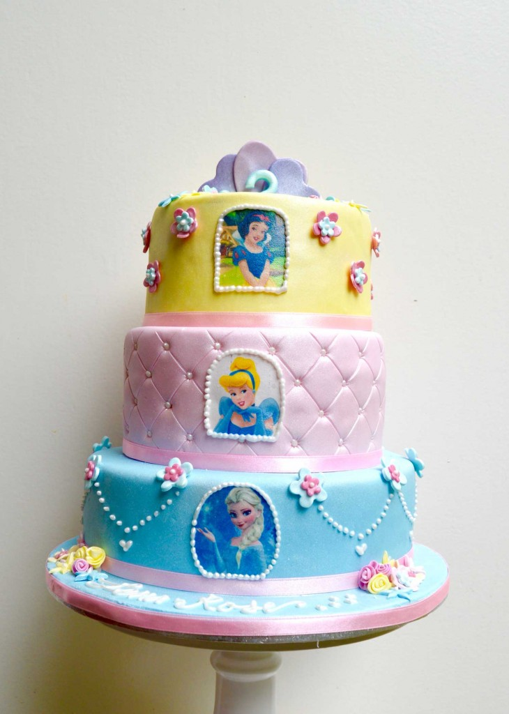 Disney Princessen taart, meisjes disney taart, pastel girls birthday cake disney