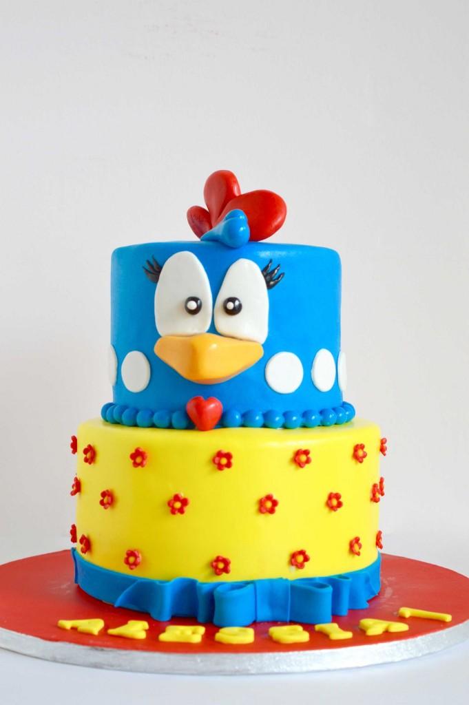 Galinha Pintadinha birthday cake