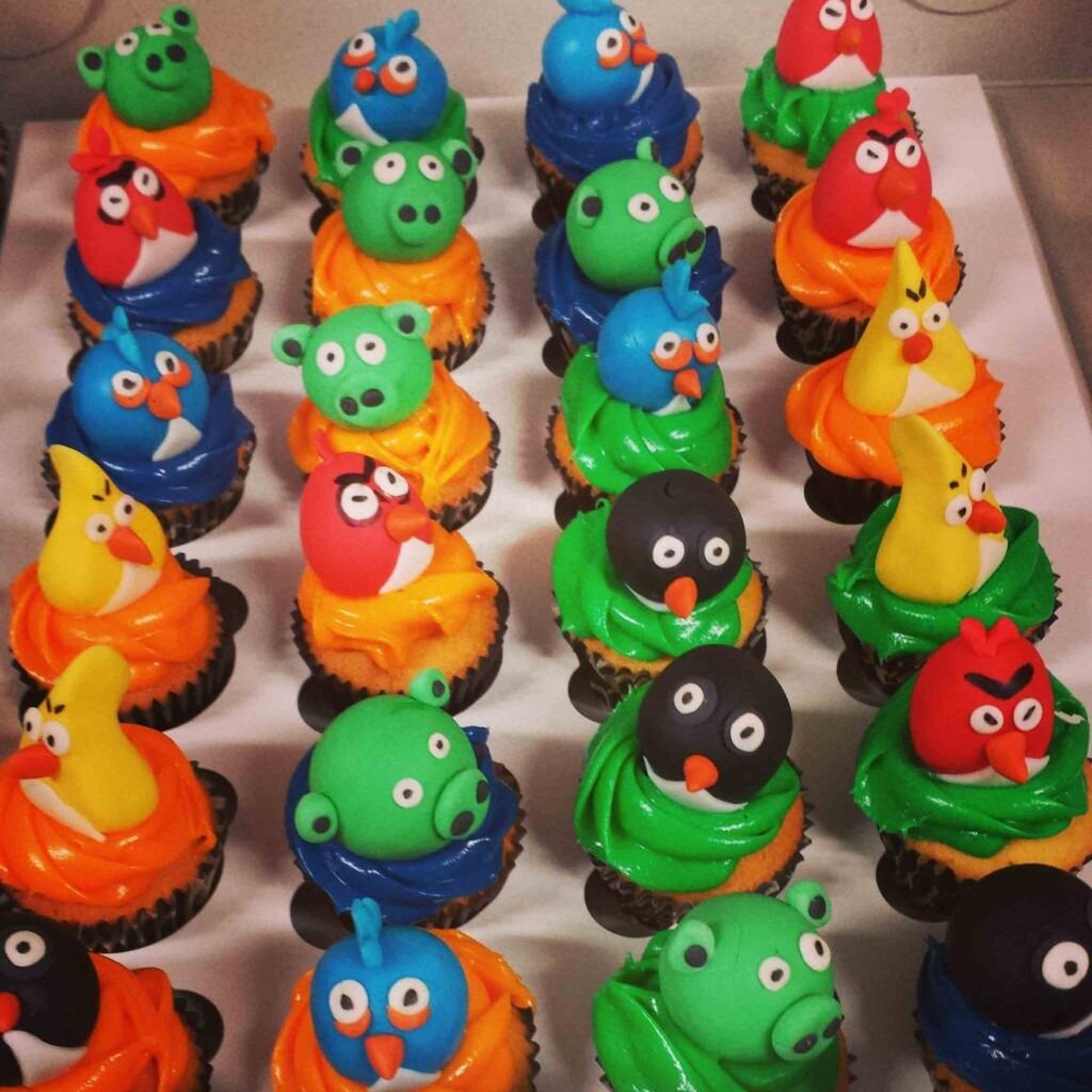 Cupcake's met verschillende Angry birds