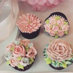 Moederdag bloemen cupcakes