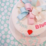 gender reveal taart, geslacht onthuling taart bestellen