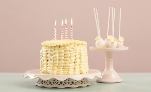 Ruffle Taart Boter Créme en Cake Pops