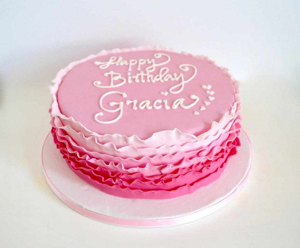 roze ombre taart bestellen, pink ombre cake