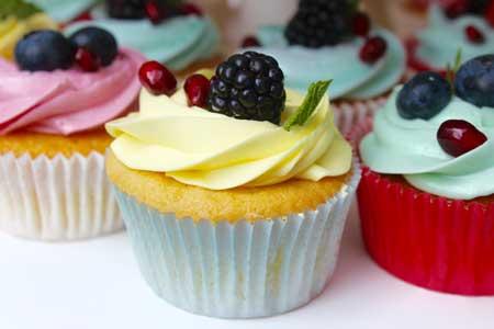 Lemon  berry cupcakes