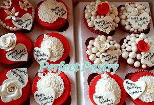 Luxe verjaardags/liefde cupcake's