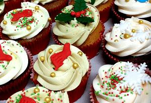 Luxe kerst cupcake's