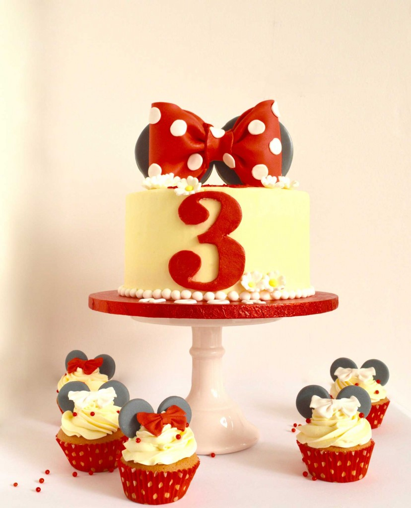 Minnie Mouse rode taart, Minnie Mouse birthday cake