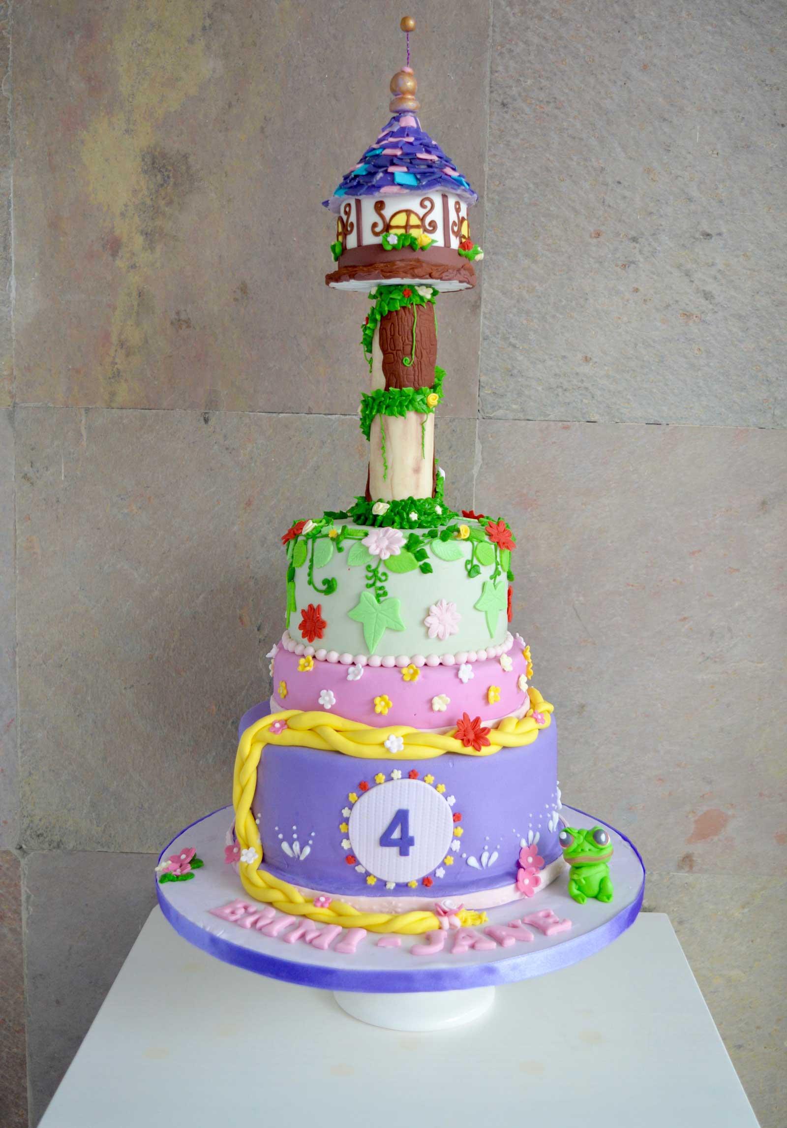 Rapunzel taart, Rapunzel Disney kastel taart, Rapunzel cake,