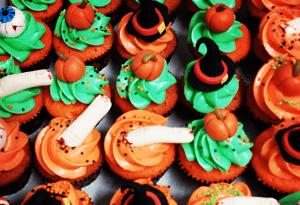 """Cupcake's met een """"Halloween"""" thema"""
