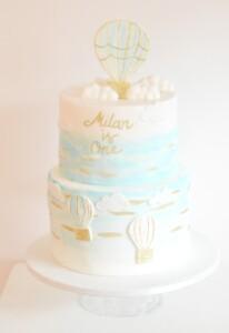 luchtbalon-taart-jongens-verjaardagstaart, babyboy-hot-air-balloon