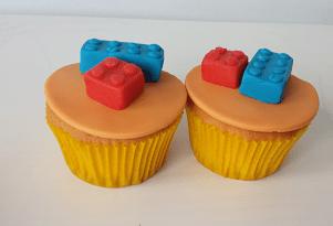 Cupcake's met legoblokjes