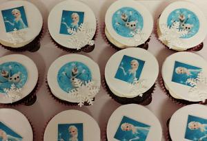 Frozen cupcake's met eetbare Frozen foto's
