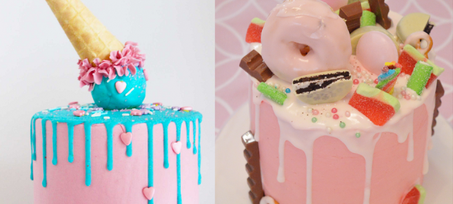Candy drip cakes