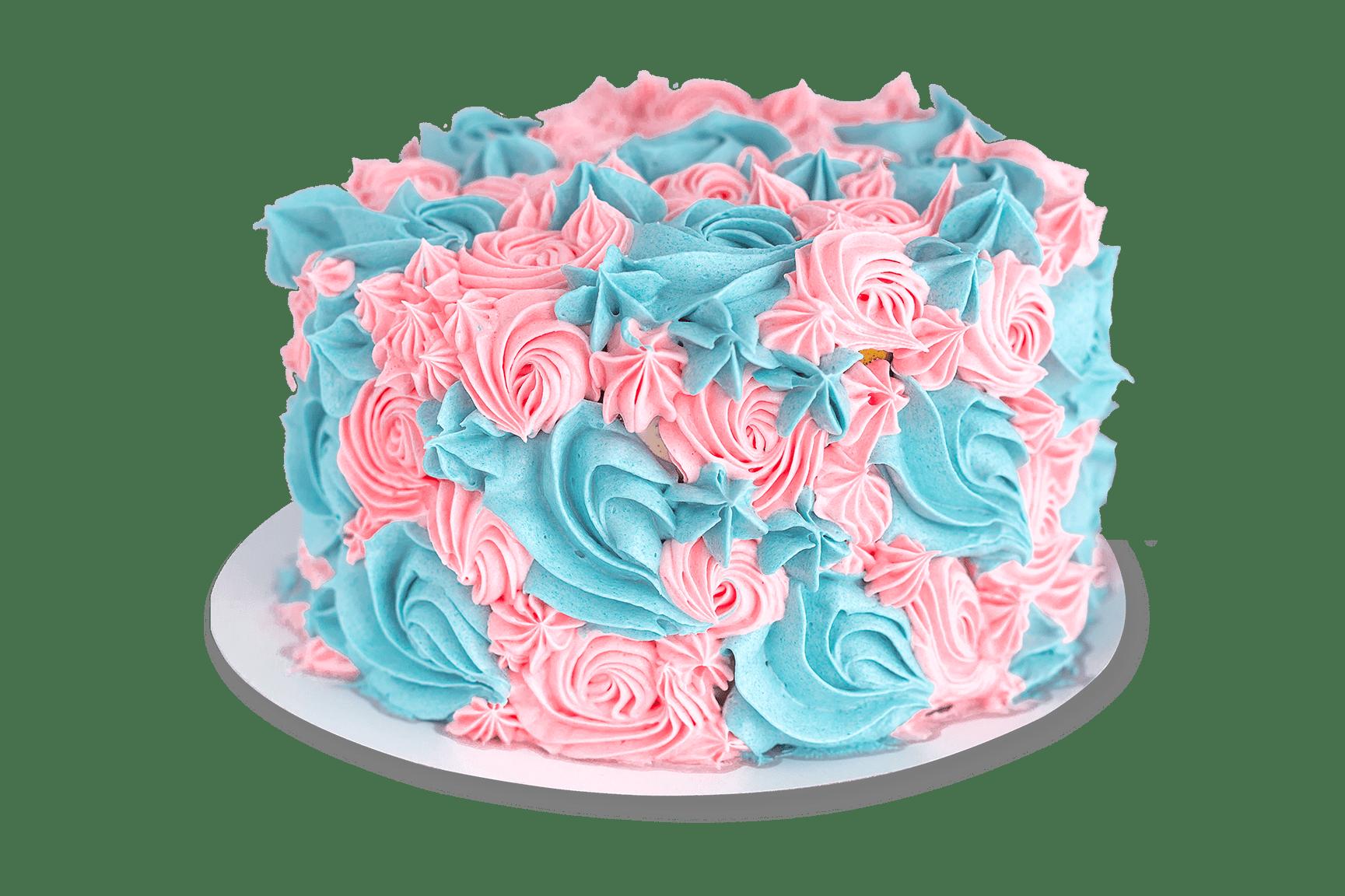 gender-reveal-taart-roze-blauw-toefjes