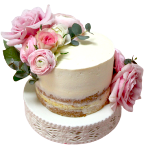 bloemen-roze-taart-botercreme-vrouw