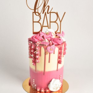baby-shower-cake-for-girl-pink-whitte-decoration-hors