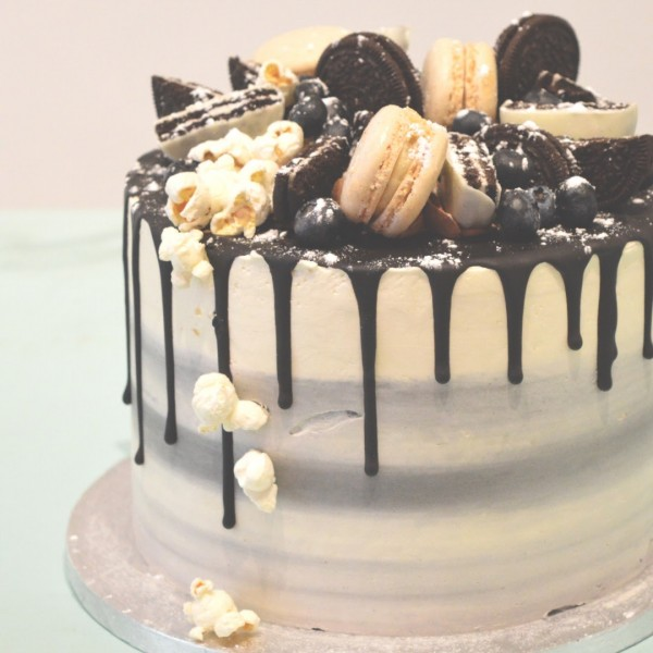 drip-taart-macarons-chocolade-ombre