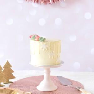 witte-drip-kerst-taart