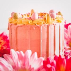 paas-taartje-drip-eiren-roze-geel-toefjes-goedkoop-taart-den-haag