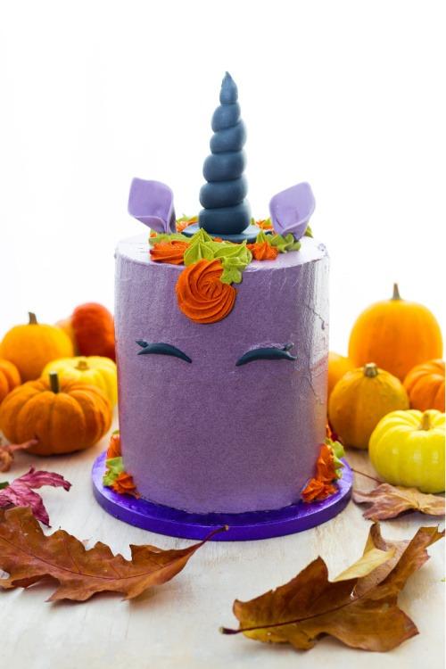 halloween paars unicorn