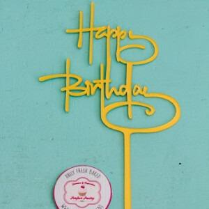 Happy birthday taart topper